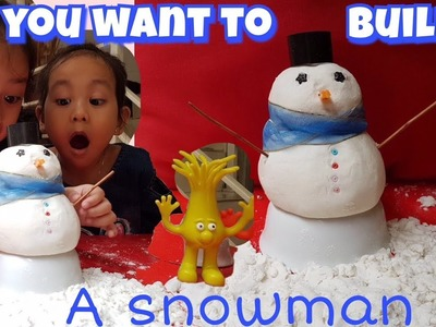 Making olaf frozen , the fun snowman  I Make Your Own DIY Snow I Cara Membuat Salju Buatan