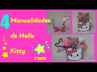 Manualidades de Hello Kitty. Manualidad con carton