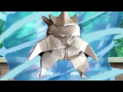 Origami Greninja tutorial part 1