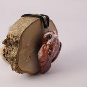 Owl Bird Necklace Animal Fimo Jewellery Accessories Handmade Wildlife Nature