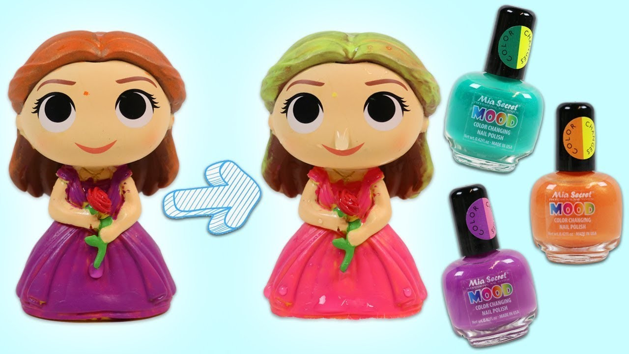Painting Disney Beauty and the Beast Characters with DIY Color Changing Nail Polish!