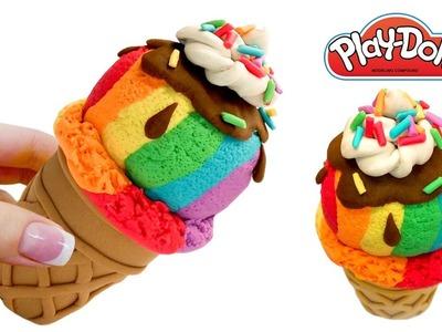 Rainbow Play Doh Ice Cream 2018. Play Doh Video Tutorial