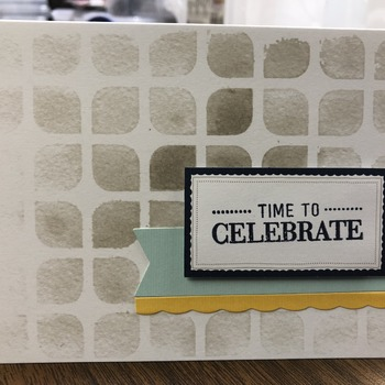 """Celebrate"" Gray Petal Tiling (Time to Celebrate)"
