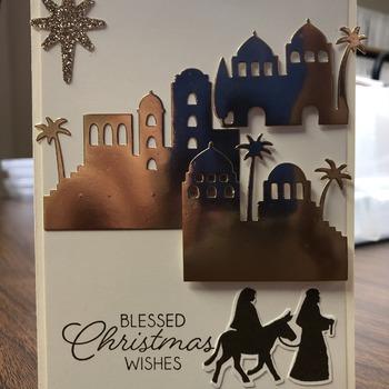"""""""Christmas"""" Copper Foil Bethlehem Scene"""