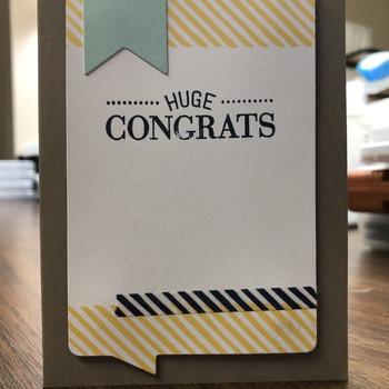 """""""Congrats"""" Blue Banner Top Left (Huge Congrats)"""