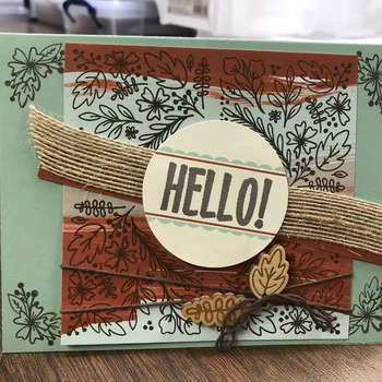 """Hello"" Identical Corners w/ Burlap"