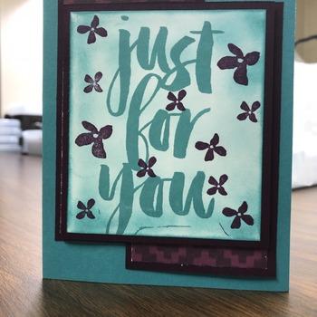 """For You"" Large Bermuda/Blackberry Floral"