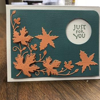 """For You"" Orange Leaves Left Corner"