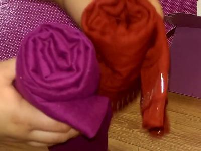 Simple scarf bouquet || DIY EASY