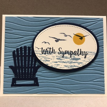 """Sympathy"" Adirondack Chair/Out to Sea Scene"