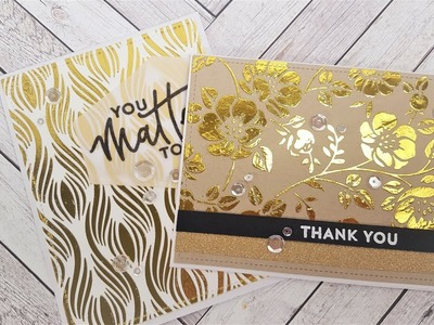 Technique stencils with transfer gel and foil | DIY card