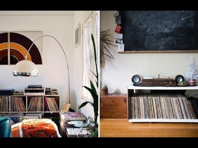 Top 40 Vinyl Record Storage Ideas | DIY IKEA Shed Box Rack Towers Kallax Divider Roll Holders 2018