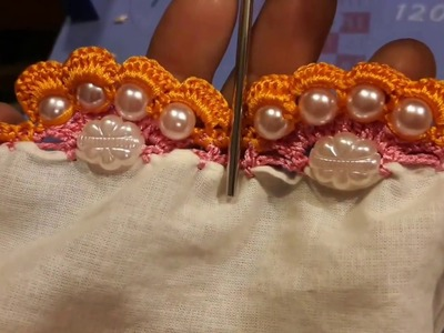 Triple Arch with beads within the arch for saree kuchu design part 2