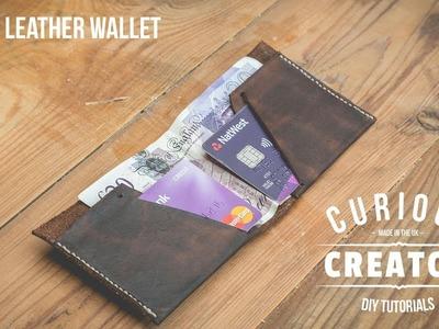 #27 Slim + Simple Leather Wallet - DIY Curious Creator