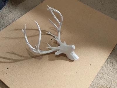 3D Printed Deer Head & Pallet Wood Wall Art