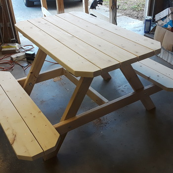 4' children's unfinished pic nic table