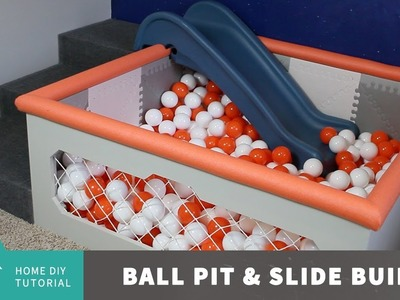 Ball Pit and Slide Build. DIY