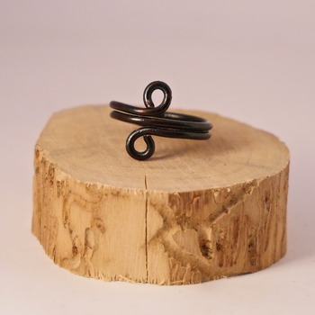 Black Wire Ring Pretty Jewellery Circle Accessories Handmade Aluminium Jewelry