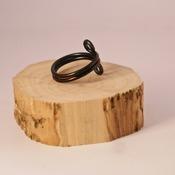 Black Wire Ring Pretty Jewellery Circle Accessories Handmade Aluminium Jewelry