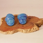 Blue Dreadlock Beads Swired White Hair Jewellery Dread Accessories Handmade Fimo