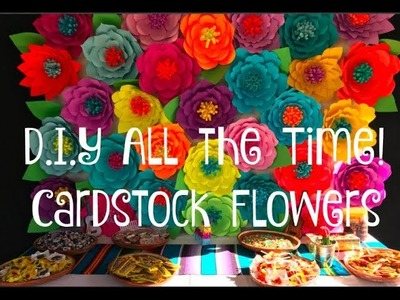 D.I.Y All the Time! Cardstock Flower