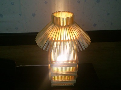 D.I.Y. Lamp from Popsicle stick