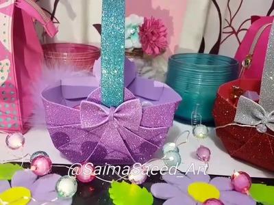 Diy basket with foamic sheet