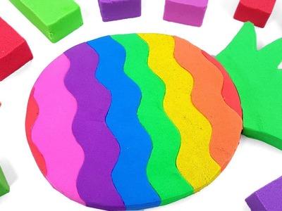 DIY How to make Kinetic Sand Cake Rainbow Pineapple Nursery Rhymes Song