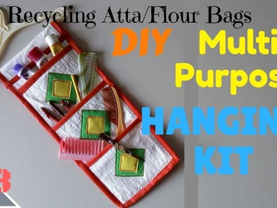 DIY Multipurpose Hanging Kit   Recycling Atta.Flour Bags