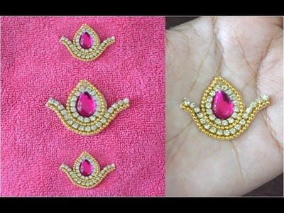 DIY Stone Work Patches At Home   How To Make Designer Saree Blouse Patches   Beauty Express