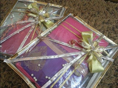 DIY wedding saree packing at home. easy and affordable.under 50 rs.
