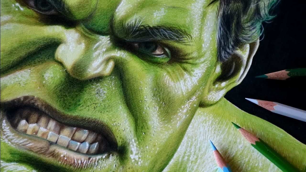 Drawing Hulk 3d Art Marvel Infinity War The Avengers