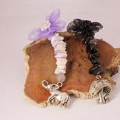 Elephant Mushroom Keyring Shells Stones Charm Keychain Accessories Handmade
