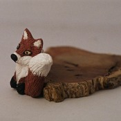 Fox Broach Pin Badge Brown White Animal Wildlife Nature Accessories Handmade