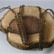 Glitter Necklace Resin Jewellery Accessories Colourful Pretty Handmade Jewelry