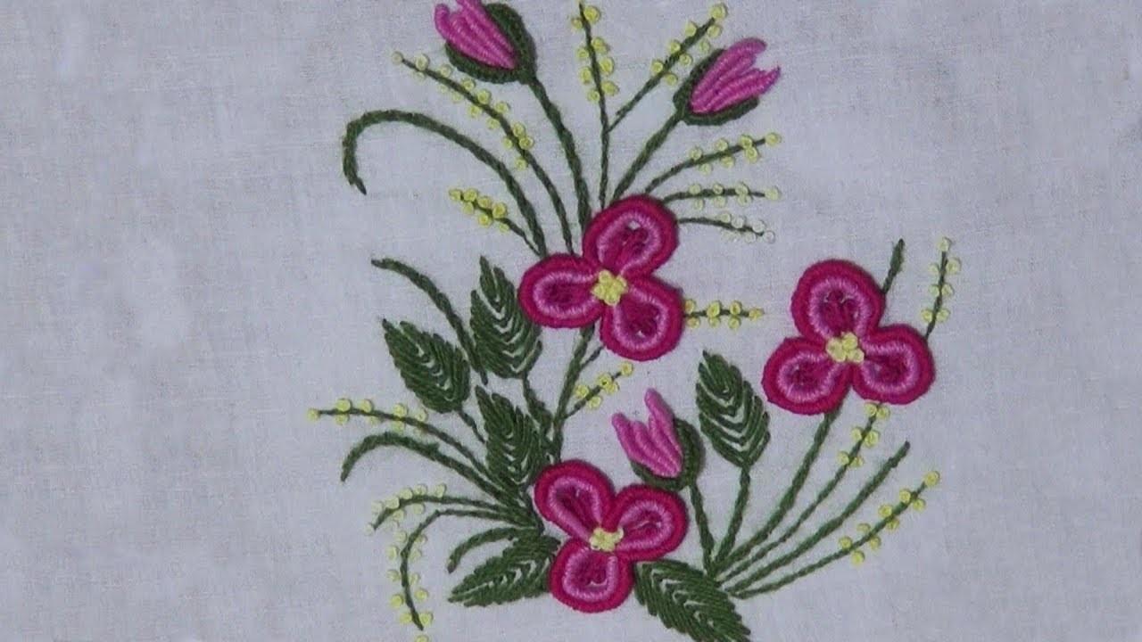 Hand Embroidery Brazilian Embroidery Bullion Stitch