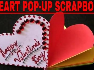 Heart Pop-Up scrapbook for Valentine's Day.
