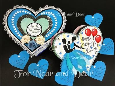Heart shape scrapbook. Birthday gift. Valentine's Day gift. Anniversary gift. best gift to couples