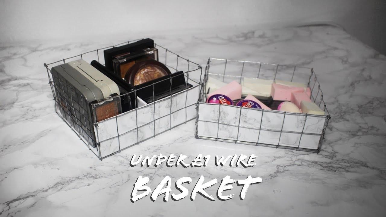 HOW TO : DIY WIRE BASKETS ( UNDER £1 )