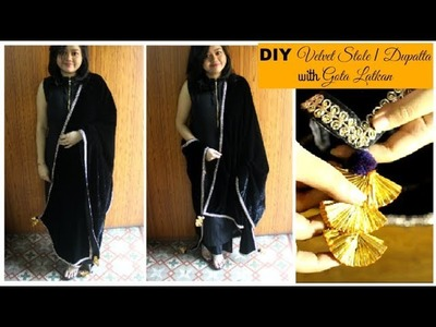 How to make a Velvet Stole. Dupatta | DIY Velvet Dupatta. Stole for Sarees & Suits