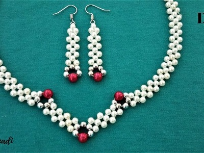 How to make an elegant jewelry set. Beading tutorial