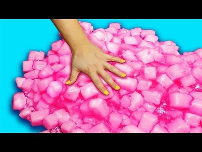 How to make Giant Jelly Cube Slime! We used 300 sponges!