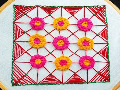 How to make spider flower hand embroidery| flower stitch tutorial video by rose world