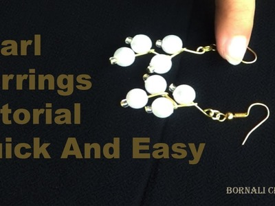 How to make your own earring,Pearl Earrings Tutorial Quick And Easy| jewellery making at home
