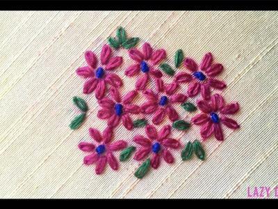 Lazy Daisy Flower Stitch | Hand Embroidery Design | Embroidery Work