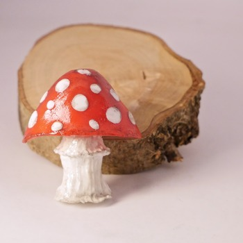 Mushroom Broach Pin Red White Fungi Badge Spotted Nature Accessories Handmade