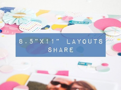"""My 8.5""""x11"""" Layouts of 2017 - Scrapbooking Layouts Share"""