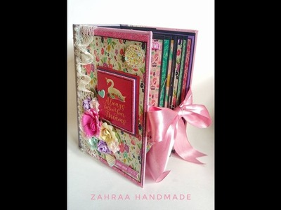 Once upon a time princess echo park scrapbook mini album, baby girl mini album