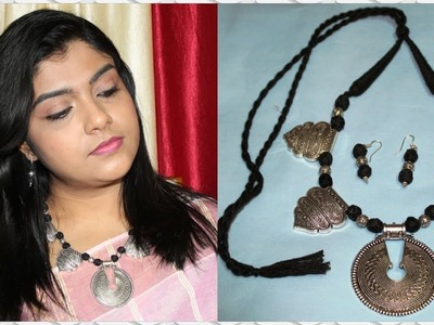 Oxidised Necklace Making Tutorial   Ananya Mondal