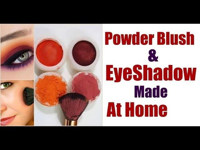 Powder Blush And Eye Shadow Made At Home.DIY Blush .Natural Blush And Eye Shade Make up Recipe